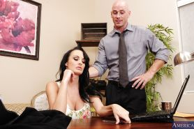 Big busted cougar Alektra Blue gets fucked on her office desk
