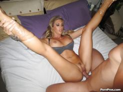 Teen cowgirl Samantha Saint has her big tits teased and pussy fucked
