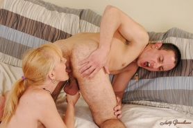 Filthy granny with tiny tits gets fucked and facialized by a younger lad #51026818