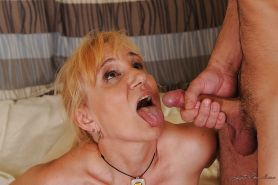 Filthy granny with tiny tits gets fucked and facialized by a younger lad #51026831