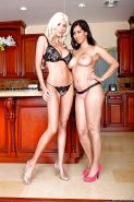 Naughty Puma Swede with big tits and long legs plays with her hot girl