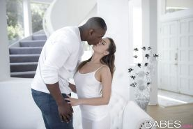 Young Latina pornstar Melissa Moore having interracial sex with BBC