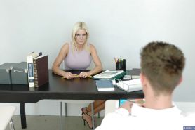 Milf teacher Lauren Kain has her cougar ass nailed in high heels