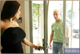 Busty mature Sheila Marie denudes her perfect body and gets shafted
