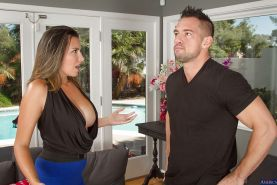 Big tits girl Danica Dillon receives fresh cum in mouth from her man