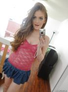Loveable teen babe Faye Regan stripping and picturing herself