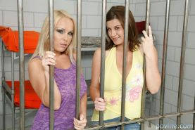 Busty gals on high heels Jessica Moore & Sara Stone get rid of their clothes