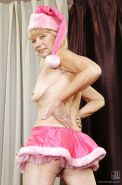 Very old granny is showing her hairy pussy and tiny tits #50336249