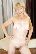 Very old granny is showing her hairy pussy and tiny tits #50336285
