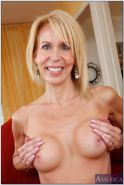 Hot granny Erica Lauren showing you her unshaven old pussy