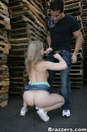 Slutty MILF Sunny Lane gets fucked hardcore outdoor in public