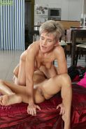Mature lesbians Melanie and Sandy Saxx fingering granny pussy after kissing #55454620