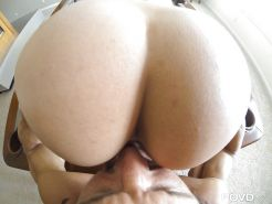 Short haired whore Anissa Kate getting a tasty creampie in POV