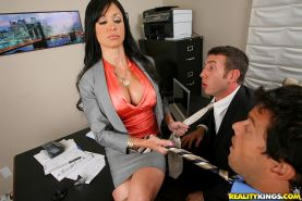 Fabulous big titted MILF Jewels Jade double penetrated in the office