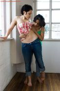 White and Indian girls Fotina and Kiki suck nipples and finger twats