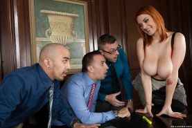 Horny redhead babe Siri gets fucked hard in the hot office