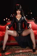 Pornstar Katrina Jade in her best Elvira Mistress of the Dark look
