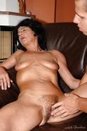 Horny granny with tiny tits gets her hairy twat nailed by younger guy #51030313