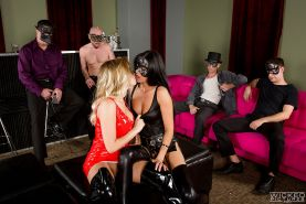 Kinky swinger sex with masked men and Britney Amber and Nikki Daniels