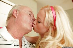 Young babe Madison Scott gets her tight pussy stretched by an oldman