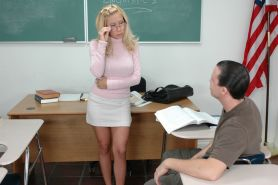 Mature teacher in glasses Andrea Jaxx fucked by her well hung student
