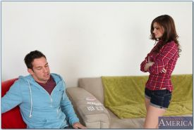 Smoking hot teen babe Lily Carter gives a blowjob and gets screwed
