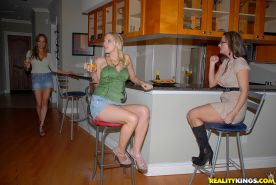 Hot lesbians kissing each other and playing with their toys