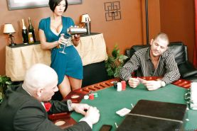 Booming MILF with ripe boobs Dylan Ryder fucked on the poker table