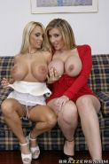 MILFs Sara Jay and Holly Halston play naughty lesbian games