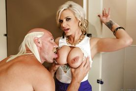 Big tit blonde babe Kate is a hardcore milf that loves blows and riding