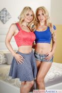 Young blondes Alix Lynx and Sarah Vandella hookup for girl on girl sex