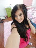 Young teen girl Zoey Kush taking naked self shots in mirror