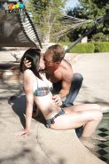 Hanna Lay was caught masturbating by her lover and then fucked nicely