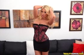 Close up posing scene from an big tits blonde babe Summer Brielle Taylor