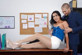 Office secretary Abby Lee Brazil was pounded in her awesome booty