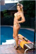 Latin wife pool shoot featuring hot stripper Esperanza Gomez