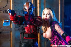 Busty Euro pornstar Kayla Green blowing and banging in cosplay outfit