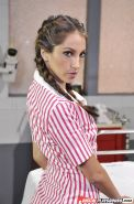 Babe with cute face Jenna Haze shows off her ideal juicy booty