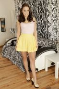 Undressing session features and sexy teen babe Gracie Glam
