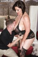 Pretty fat woman Paige Turner flaunting huge tits while getting screwed