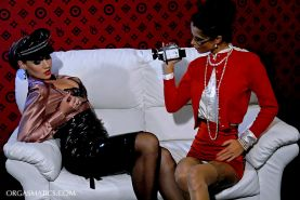 Horny lesbians Nessa Devil & Kety Pearl having fun with their toys