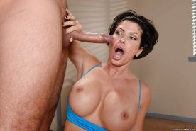 Sizzling mature brunette Shay Fox has her anal hole creampied