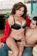 Mature with amazing forms Sandra Martines hard fucking with the step son