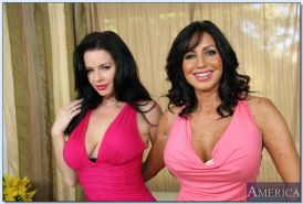 Hot ladies with big tits Tara Holiday & Veronica Avluv stripping together