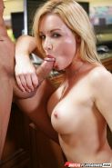 Bleached model Kayden Kross is getting banged in her nice face