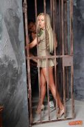 Prison threesome fuck with an superb blonde chick with tiny tits Angie Koks #52690916