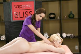 Hot lesbian massage action with babes Chloe Lynn and Dillion Harper