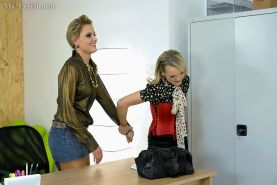 Stunning filly clothed ladies makes some sensual lesbian action