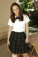 Nasty schoolgirl with tiny titties Remy LaCroix smoking and stripping