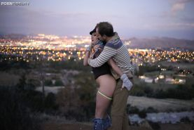 Hardcore fuck with an tiny tits cowgirl AJ Applegate with her man